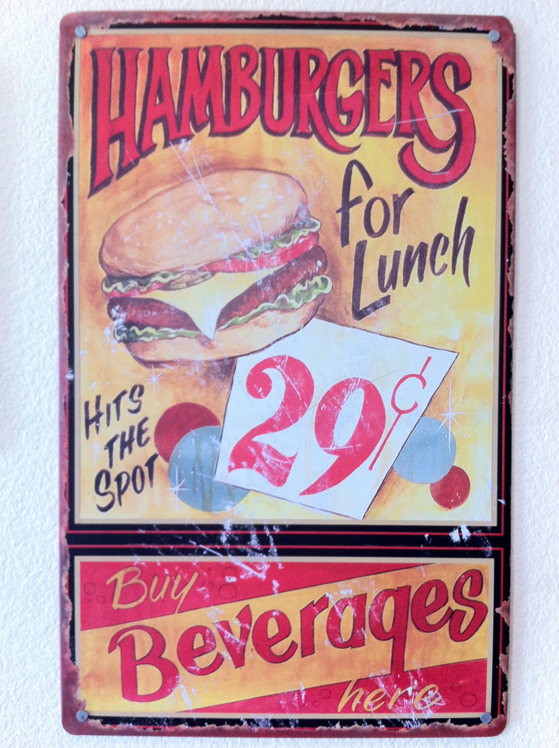 Old Food Signs